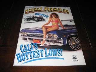 vintage Lowrider Magazine September 1991   Hoppin Cadi