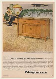 1961 Magnavox Concert Master Stereophonic High Fidelity Console Print