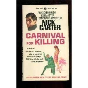 Carnival for Killing Nick Carter Books