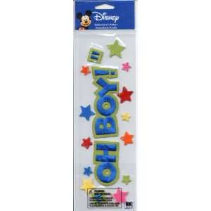 Disney Mickey Mouse Oh Boy Embroidered Scrapbook Stickers
