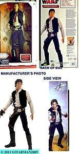 STAR WARS UQS HAN SOLO 19 INCH TALKING ACTION FIGURE   NIB RARE FREE