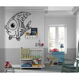 Cute Little Cartoon Fish Marine Kids Room Animal Decor