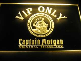 Captain Morgan VIP Only Logo Beer Bar Pub Store Light Sign Neon W0612