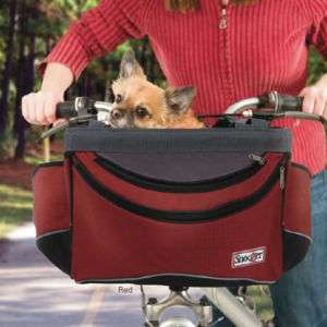 Snoozer Sporty Pet Bike Basket, carrier, RED