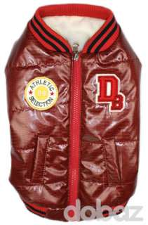 DOBAZ Sport Quilted Dog Red Jacket Clothes S,M,L,XL,2XL