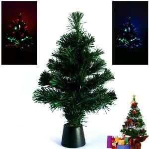 Desktop Christmas Tree with Color Changing LED Fiber
