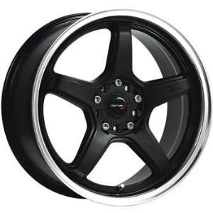 Drifz Circuit 18x8 Black Wheel / Rim 5x100 & 5x4.5 with a 35mm Offset
