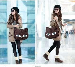 Korean Fashion Style Cute Cat Face Lady Hobo Fluffy Bag Shoulder