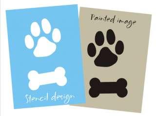 STENCIL Paw Print Bone you paint Pet decor Dog Cat Sign