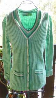 Sweater Set Cardigan Knit Tank Top Shirt Space Dye Rockabilly