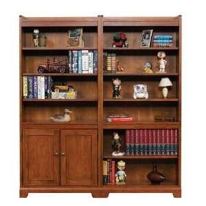 72 H Open Bookcase w/ 72 H Bookcase w/ Doors by Winners