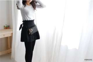 NWT Black Quilted Real Lamb Skin Leather Crossbody Clutch Wallets