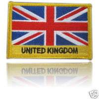 United Kingdom Embroidered Flag patch Iron on or Sew