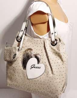 NEW Guess SOULMATES Natural Tote Bag Purse Handbag NWT