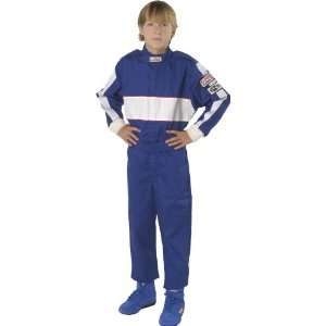 Force 4372CSMBU GF 105 Blue Child Small Single Layer Racing Suit