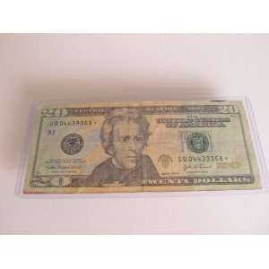 Twenty Dollars Star Note Series 2004 A $20 Bill GB04439368