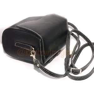 com RainbowImaging Black GENUINE Leather Case Bag for Sony NEX 5 NEX