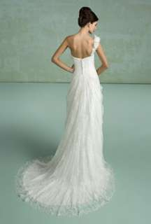 Sexy One Shoulder Cheap Wedding Dress Bridal Gown New