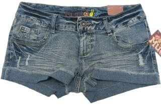 MUDD Juniors Medium Blue Jean Shorts Stretch Denim NWT $30