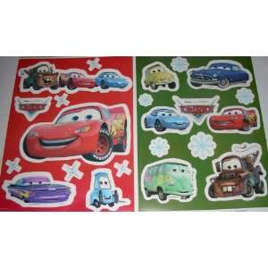 Cars Disney Pixar 20 Pc. Set Window Decals Everything
