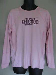 NIKE WOMENS LONG SLEEVE T SHIRT SZ XL CHICAGO MARATHON
