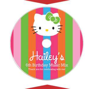 HELLO KITTY Party Favors Personalized CD LABELS
