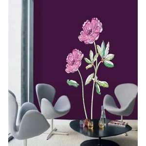 Pictorial Flower Home Decor Wall Paper Sticker ECO 015