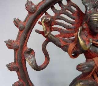 Old Tibet Tibetan God of Dance Shiva Nataraja Buddha Statue