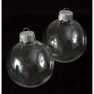 Clear Plastic Round Ball 67mm Ornaments   The Look of Glass Ornaments