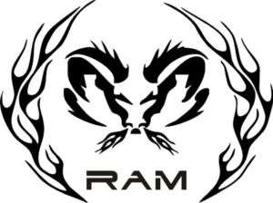 Ram Tribal Flame Circle   Vinyl Sticker / Decal