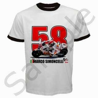 58 Race Your Life MotoGP Super Sic Marco Simoncelli T Shirt S to 3XL