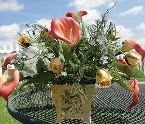 Flower Arrangements on Silk Flower Arrangements Custom Free Local Delivery   Cemetery Sprays