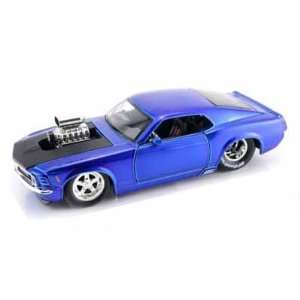 Ford Mustang BOSS 429 Blown Engine 1/24 Metallic Blue Toys & Games