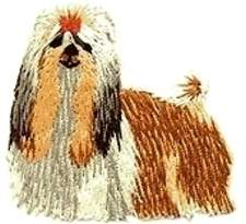 Pekinese Shih Tzu Dog Embroidered Applique Patch 150412