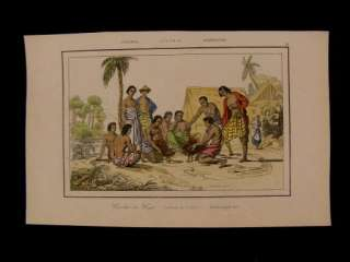 Combate de Gallos (cockfight) Australia 1863 engraved