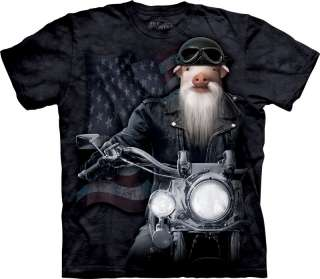 New PIG ON MOTORCYCLE BIKER T Shirt