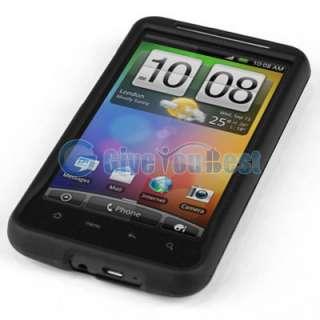 Black Hard Case Skin Cover For HTC DESIRE HD INSPIRE 4G