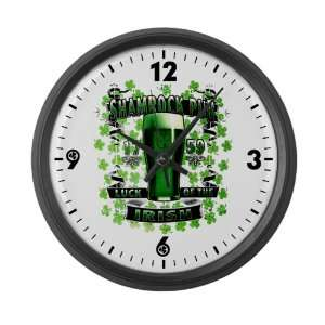 Large Wall Clock Shamrock Pub Luck of the Irish 1759 St Patricks Day