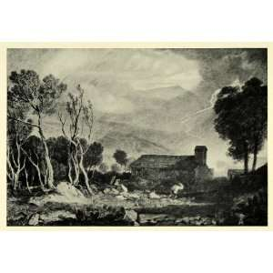 1919 Print Patterdale Old Church Joseph Mallord William
