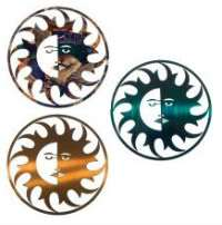 Sun & Moon Face with Rays Southwest Southwestern Laser Cut Metal Wall