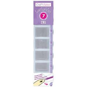 Craft Mates Lockables Caddy 2XL 7 Compartment (Pack of 3