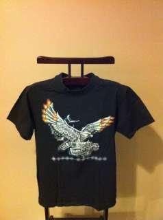 Back of Shirt is Printed with HARLEY DAVIDSON MOTOR CYCLES   LAKE