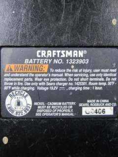 LOT of 3 AS IS Craftsman 19.2 Volt EX Batteries 1323517 & 1323903 for