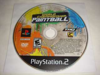 World Championship Paintball   PS2 Playstation game E10 752919461099