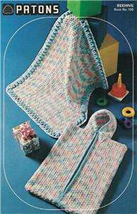 KNITTING CROCHET PATTERNS PATONS BEEHIVE FOR BABY