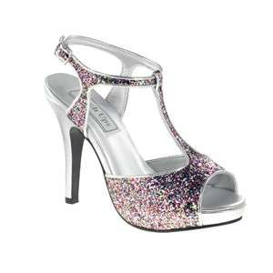 ZOEY Touch Ups in PINK MULTI Bridal Bridesmaid Prom Pageant Shoes