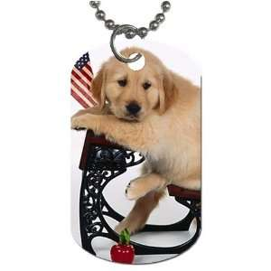 Cute School puppy Dog Tag with 30 chain necklace Great