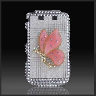 FOR BLACKBERRY TORCH 9800 9810 3D PINK GOLD FAIRY SILVER BLING CASE