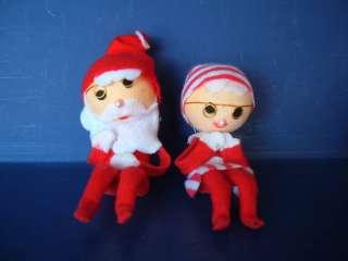 Vintage Knee Hugger Santa Mrs Claus Japan Christmas 50s