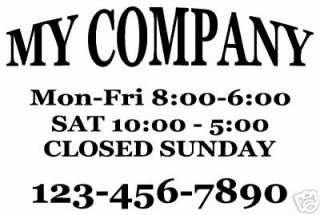 OFFICE DOOR SIGN CUSTOM VINYL LETTERING FOR BUSINESS